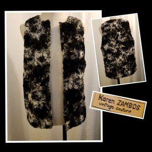 Karen ZAMBOS Vintage Couture Faux Fur Vest S